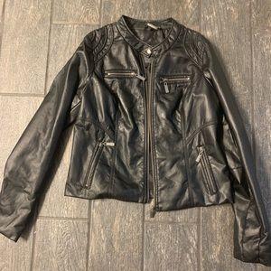 Black Motto Leather Jacket